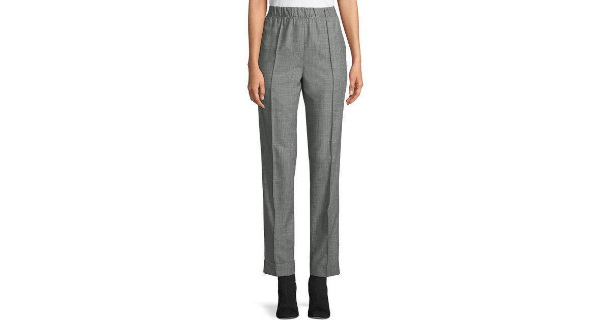 acbcc0efcc40c Lyst - Helmut Lang Pull-on Wool-mohair Suit Pants in Gray