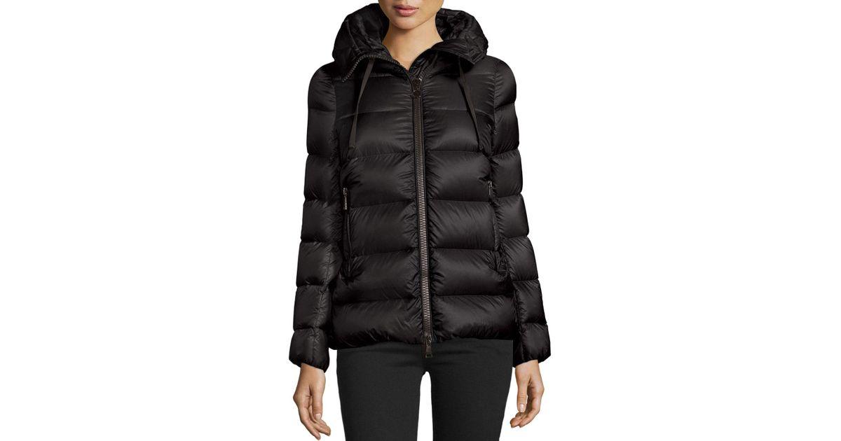 e07dda9831c ... new zealand lyst moncler serinde hooded short puffer jacket in black  3f5b6 72ee6