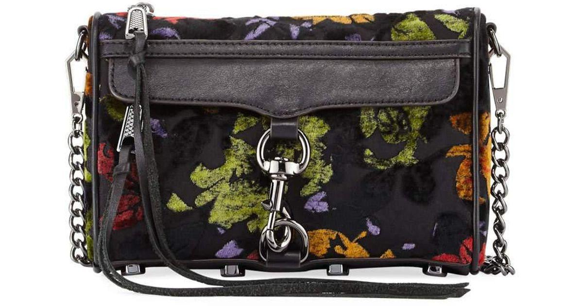 Lyst - Rebecca Minkoff Mac Mini Velvet Crossbody Bag In Black