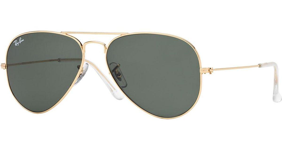 15042baa6f Lyst - Ray-Ban Monochromatic Metal Aviator Sunglasses Yellow Pattern for Men