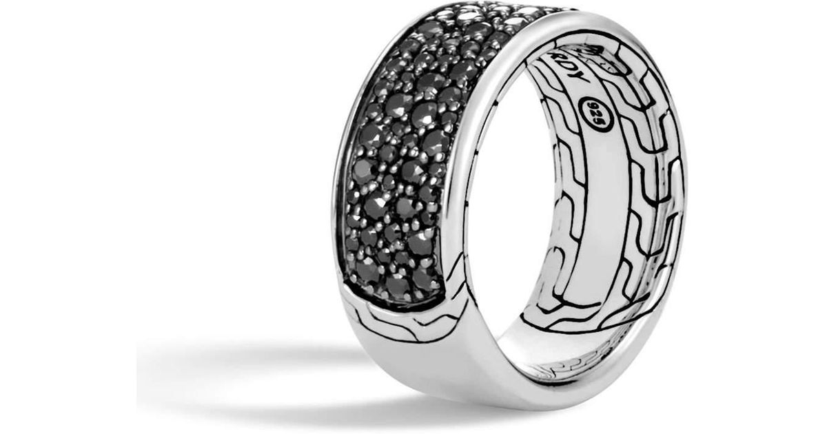 John Hardy Mens Classic Chain Sapphire & Spinel Ring wXXZRR9UC6