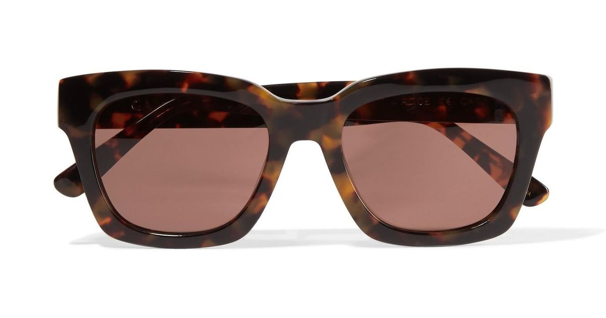 515bc1d060fa Ganni Alice Square-frame Acetate Sunglasses - Lyst