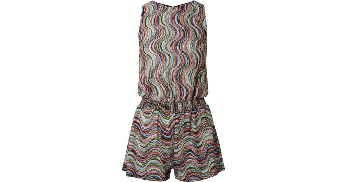 1ed6a33849a Lyst - Missoni Mare Metallic Crochet-knit Playsuit in Gray