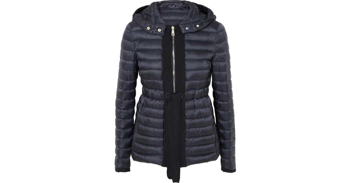 212f6865765 Moncler Grosgrain-trimmed Quilted Shell Down Jacket in Blue - Lyst