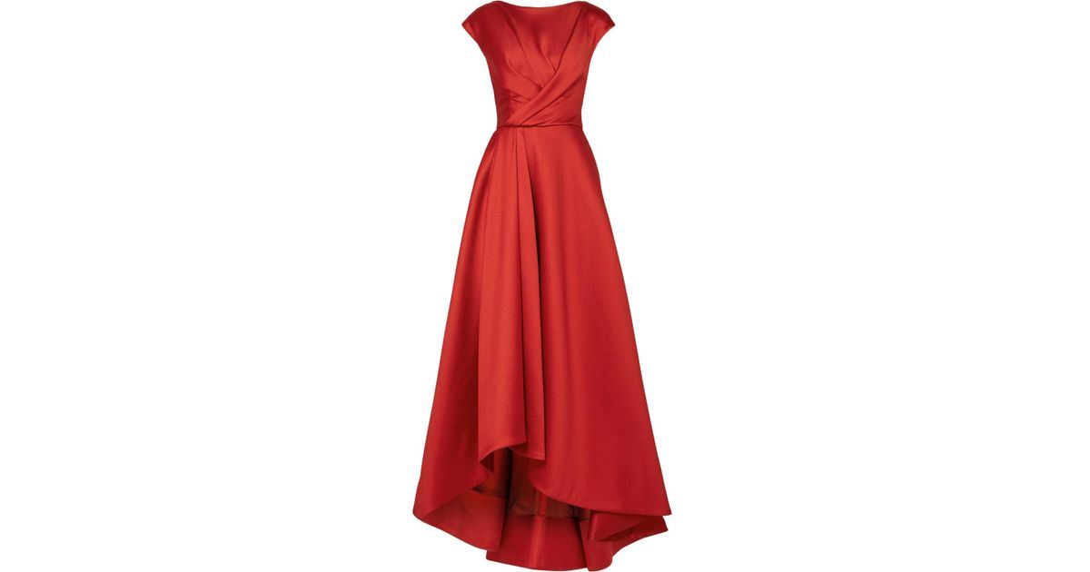 db60ca633020 Lyst - Jason Wu Asymmetric Wrap-effect Taffeta Gown in Red