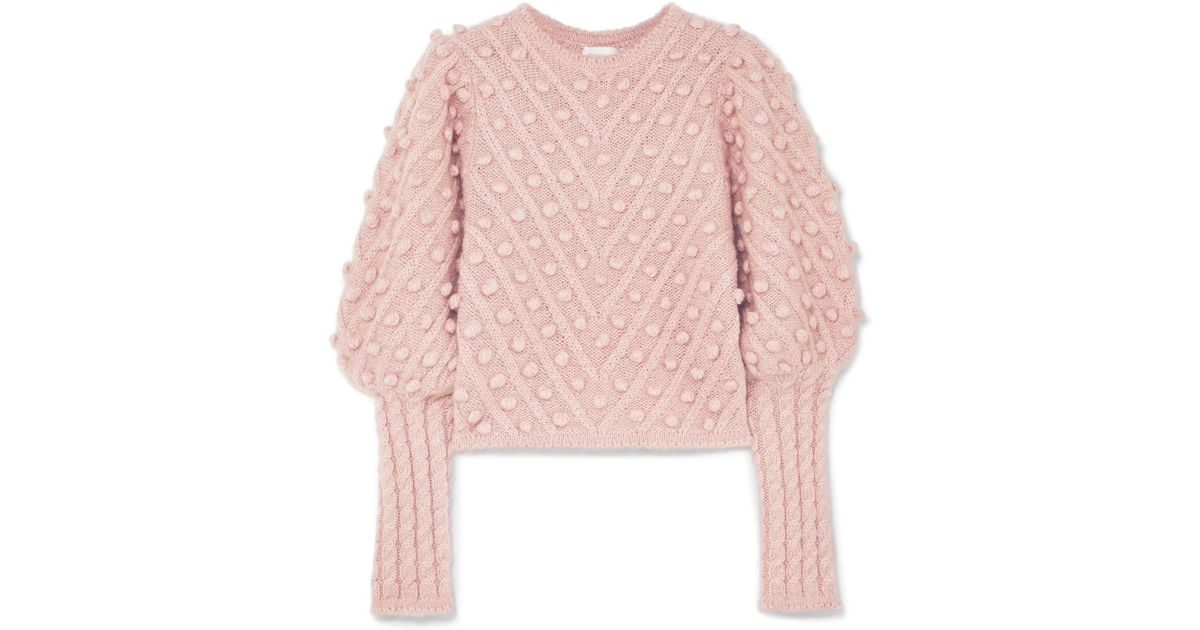 397e35acaf3 Zimmermann Unbridled Cable-knit Sweater in Pink - Lyst