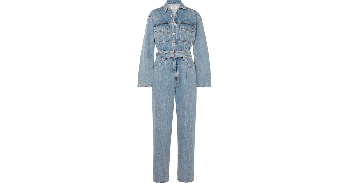 d47d896a63e Agolde - Blue Tatum Belted Denim Jumpsuit - Lyst