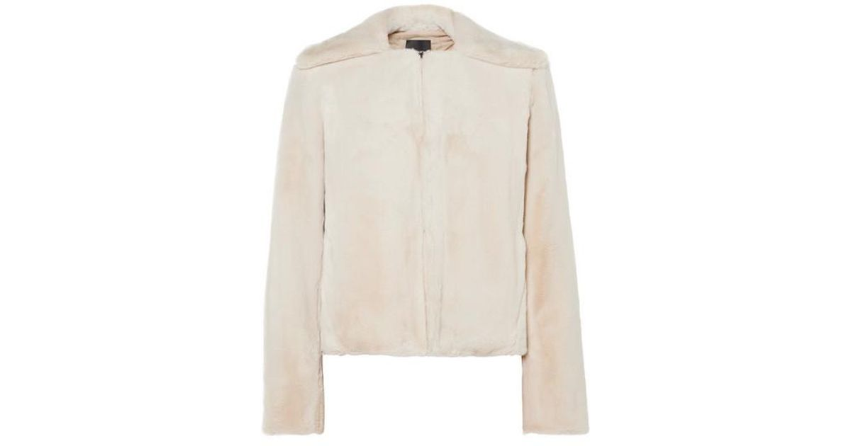 293a178dd9 Theory Luxe Faux Fur Jacket in Natural - Lyst