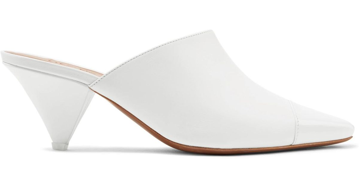 Paneled Leather And Perspex Mules - White Neous VEMNlpeL