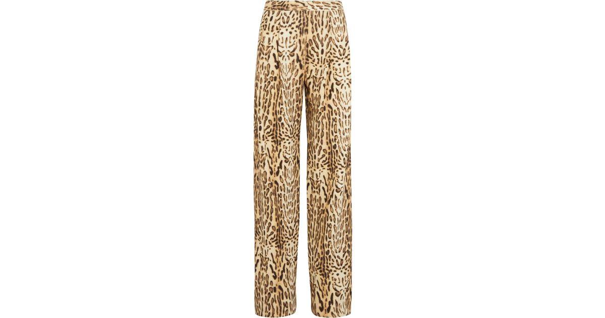 Cheap Sale Genuine Ocelot-Print Wool Wide-Leg Trousers Adam Lippes View For Sale Sale Latest IImHuOc9kD