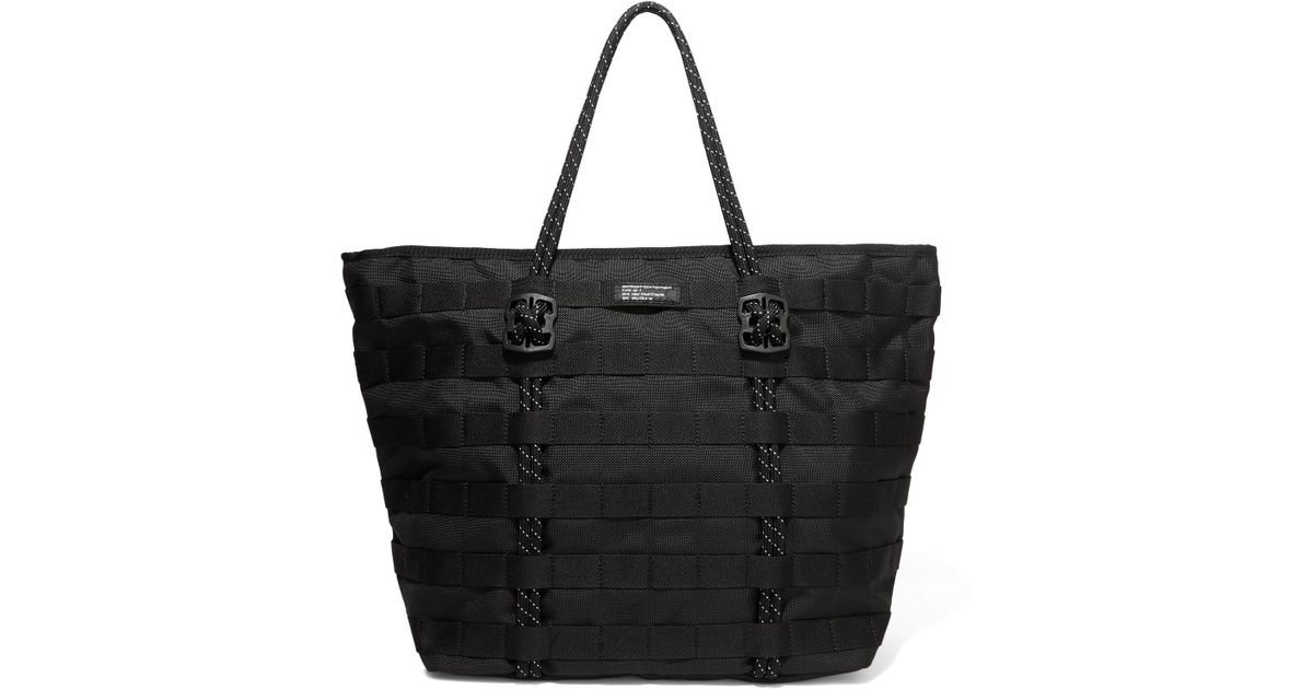 Lyst - Nike Air Force One Shell Tote in Black 94f5cb13c2