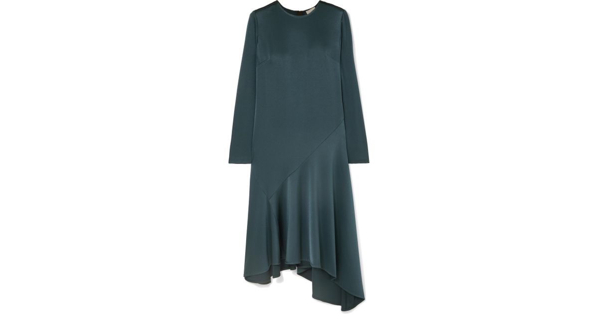 3f7e64fa9484 Lyst - Jason Wu Asymmetric Satin Dress