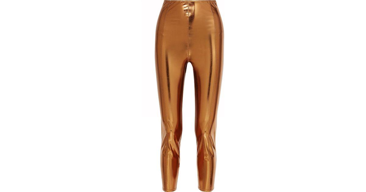 04163736e0de3 Lisa Marie Fernandez Karlie Metallic Stretch-pvc Leggings - Lyst
