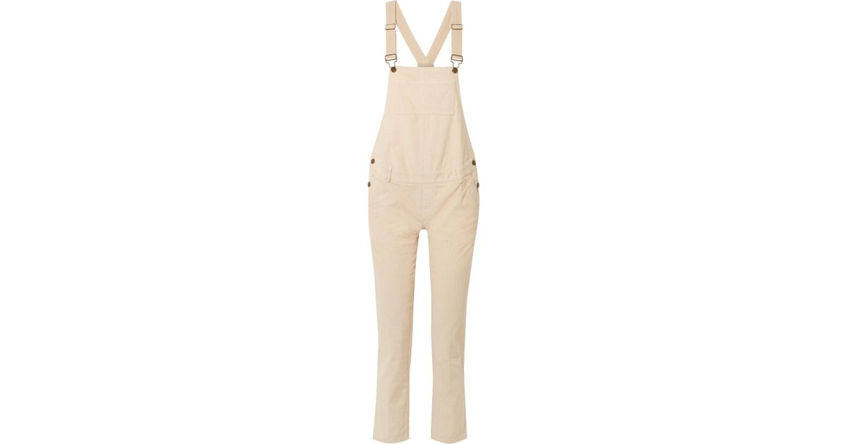 c8b50deae70b Lyst - HATCH The Cord Cotton-blend Corduroy Overalls in White