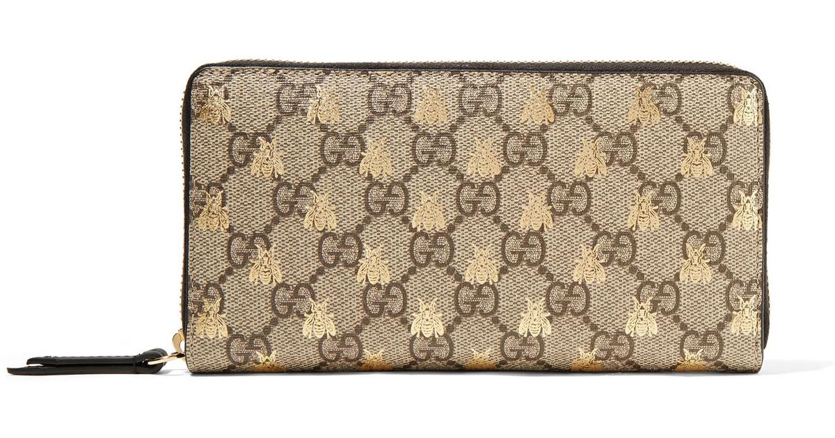 Coated-canvas Continental Wallet - Beige Gucci aqhqvW