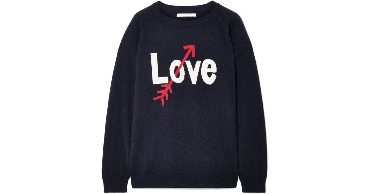 c471b461ede2ce Chinti & Parker Love Arrow Intarsia Cashmere Sweater in Blue - Lyst