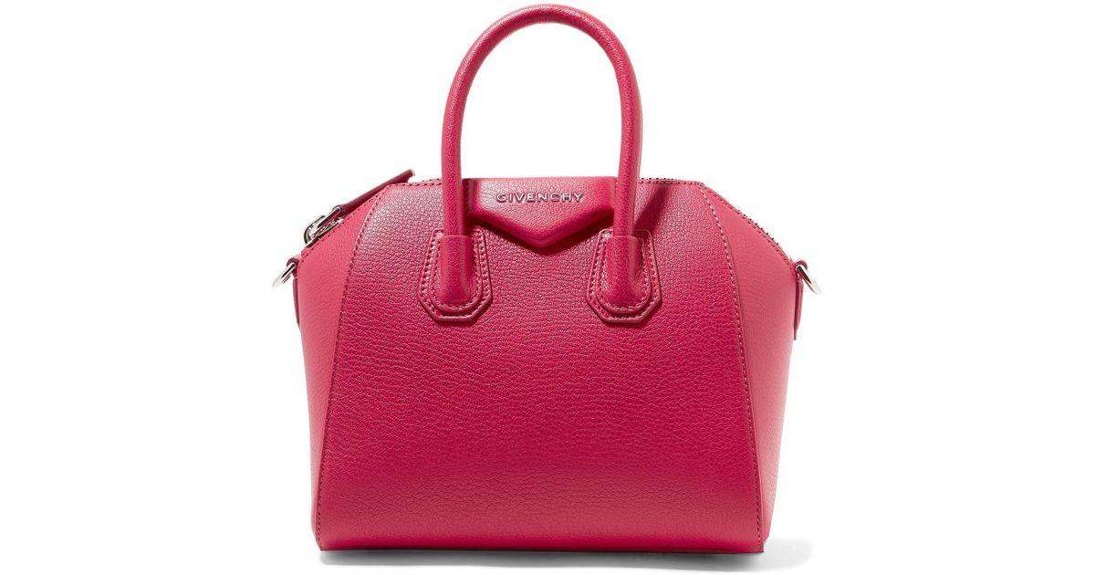 94592bbc75 Lyst - Givenchy Antigona Mini Textured-leather Tote