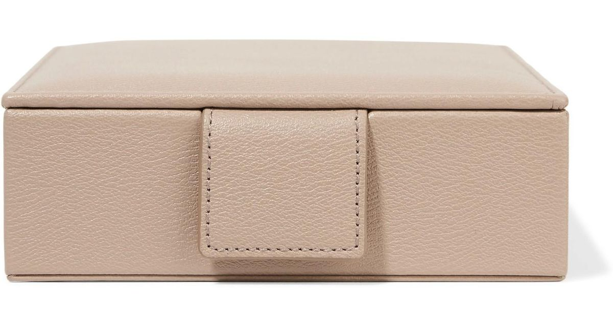 a9d6008f53c6 Lyst - Smythson Grosvenor Textured-leather Travel Jewelry Box