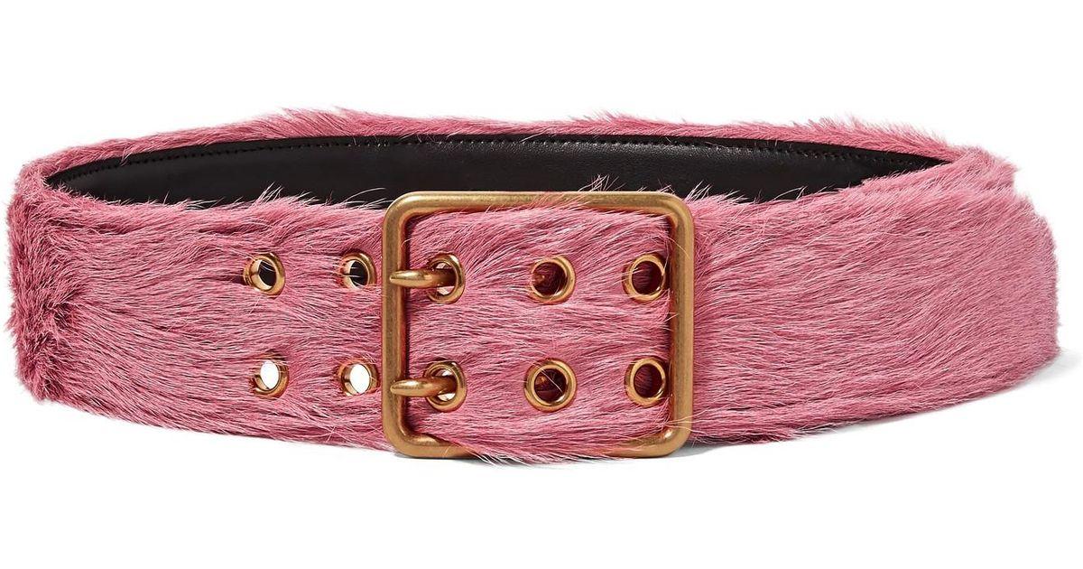 Calf Hair Belt - Pink Prada auYv5