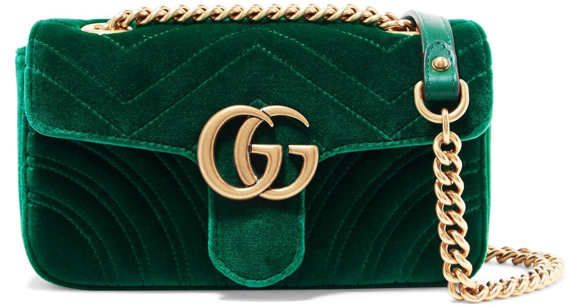 97f13c45427f Gucci Gg Marmont Mini Green | Mount Mercy University