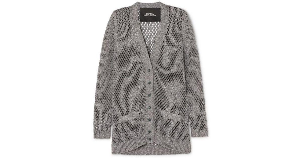 9a0d75090700 Marc Jacobs Metallic Wool-blend Cardigan in Metallic - Save 12% - Lyst