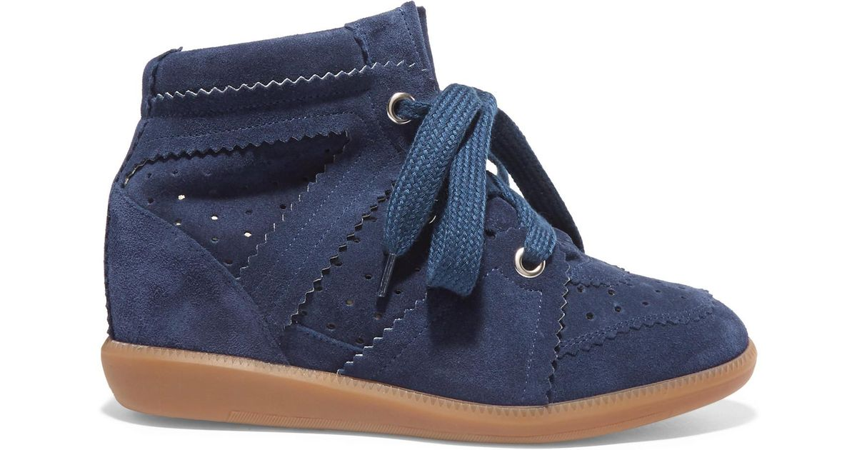 e66f3d4887 Isabel Marant Étoile Bobby Suede Wedge Sneakers in Blue - Lyst