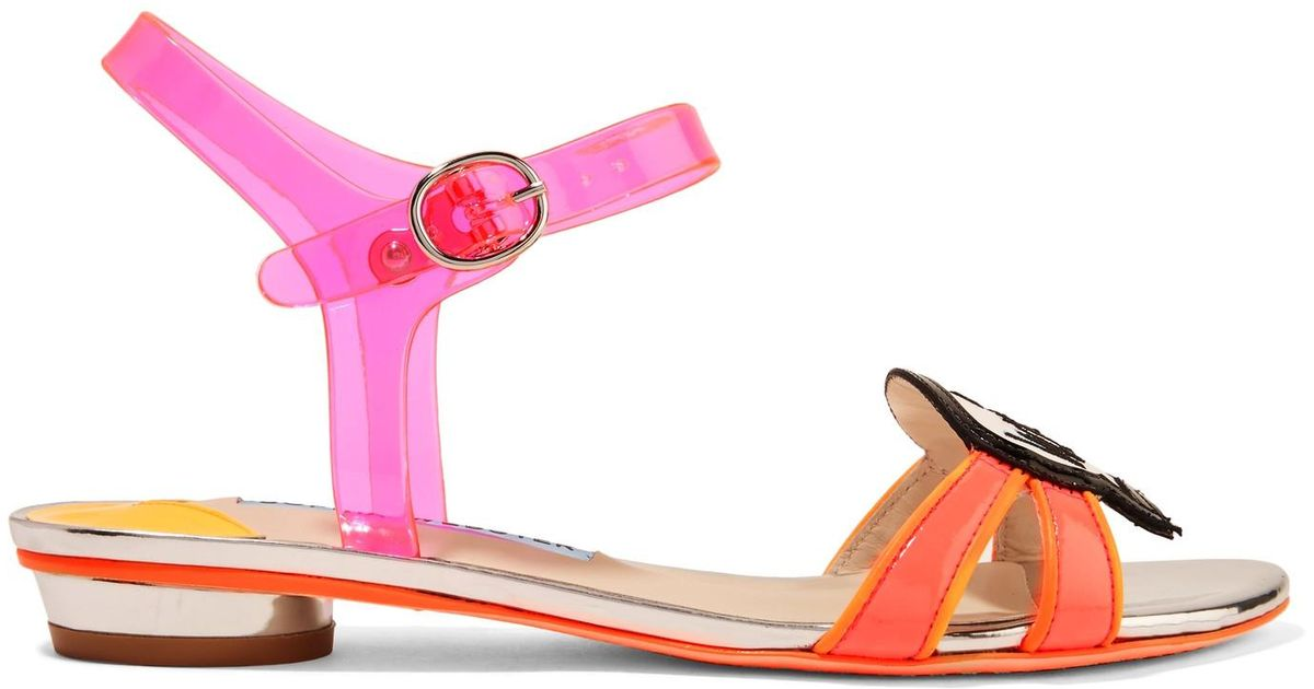 806200a73fdf Lyst - Sophia Webster Wifey For Lifey Vinyl And Patent-leather Sandals in  Pink