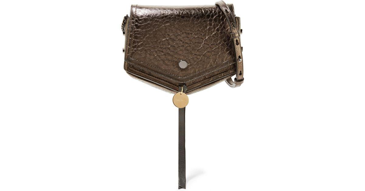 567d3d63b0115 Lyst - Jimmy Choo Arrow Metallic Textured-leather Shoulder Bag