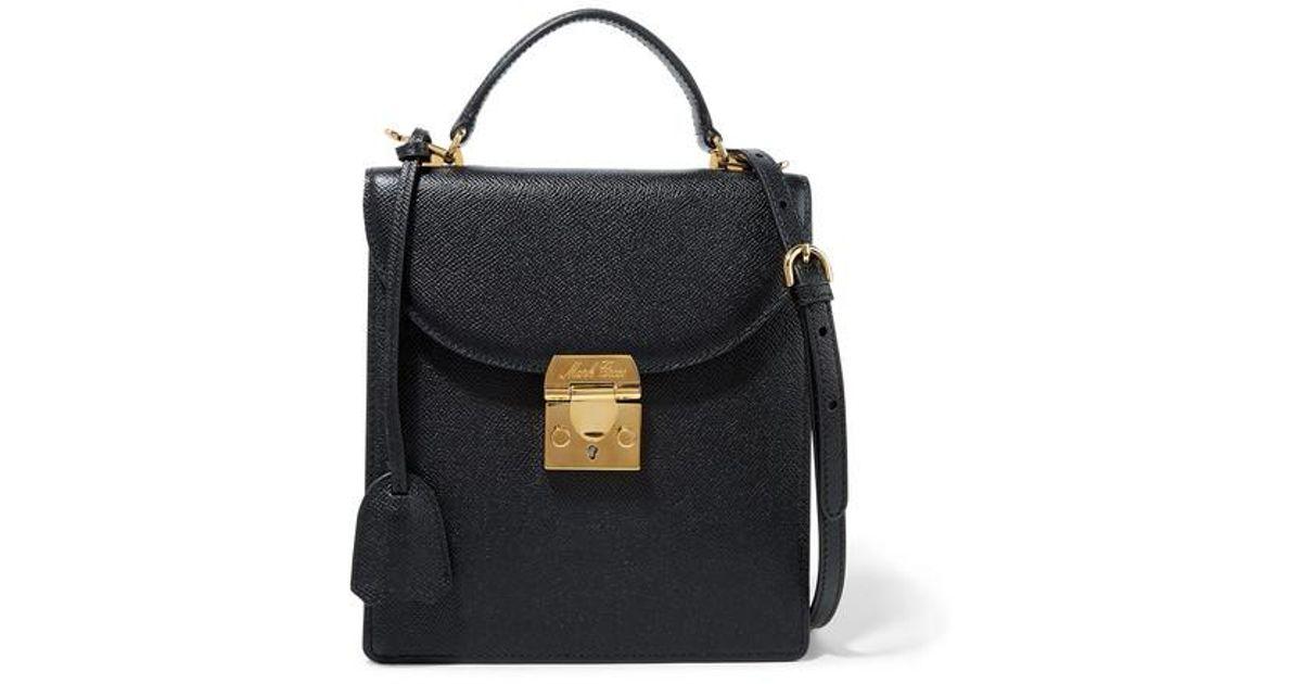 9cfa5ba88f1dc3 Mark Cross Uptown Textured-leather Shoulder Bag in Black - Lyst