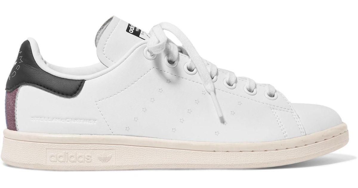 71c62ecf284b4b ... new zealand lyst stella mccartney adidas stan smith grosgrain trimmed  faux leather sneakers in white 8152b