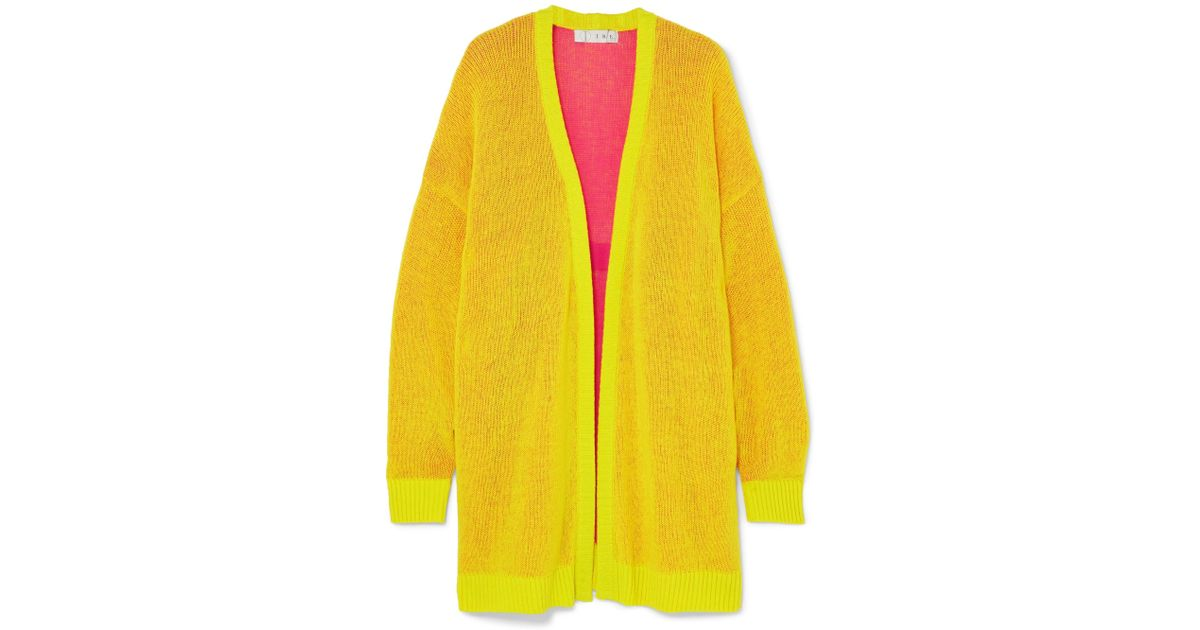 c946e18d59 Lyst - Tre by Natalie Ratabesi Miki Oversized Cashmere Cardigan in Yellow