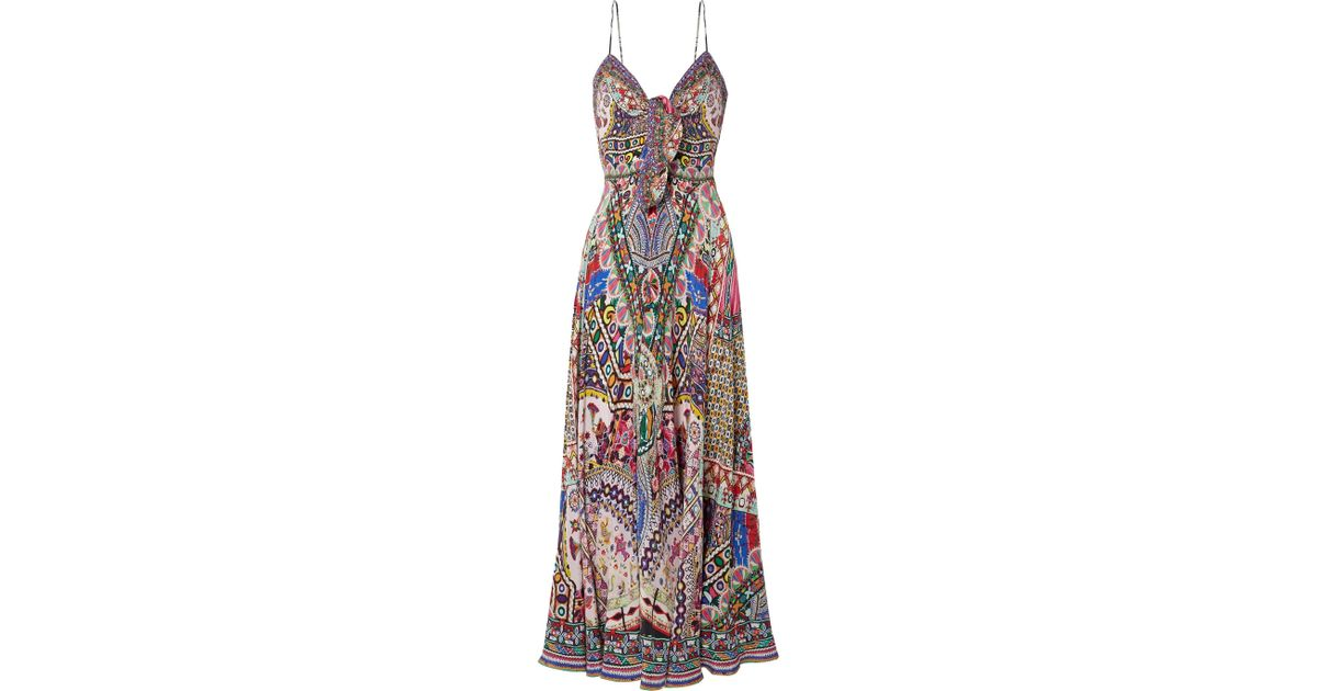 The Long Way Home Embellished Printed Silk Crepe De Chine Maxi Dress - Jade Camilla 100% Guaranteed Discount Good Selling ppOfPxh