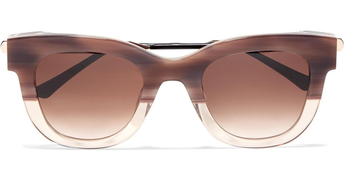 15195341f6 Thierry Lasry Sexxxy Cat-eye Acetate And Gold-tone Sunglasses in Pink - Lyst