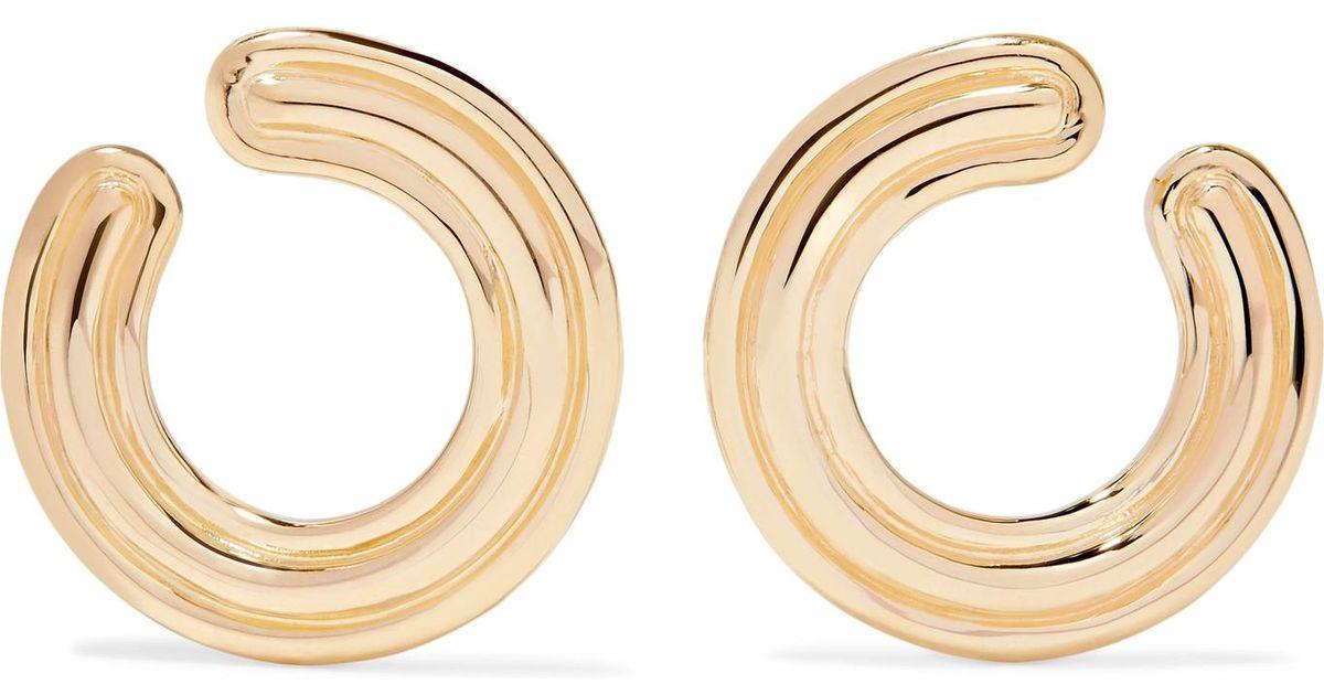 Melissa Kaye Jen Maia 18-karat Gold Diamond Hoop Earrings Joaf14ezov