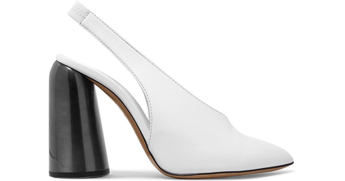 Ellery Leather Slingback Heels in . X1yViqR1A