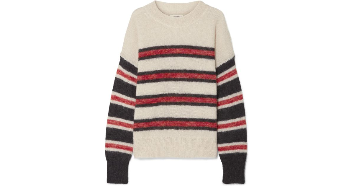 b692e4c7ed Étoile Isabel Marant Russell Striped Mohair-blend Sweater - Lyst