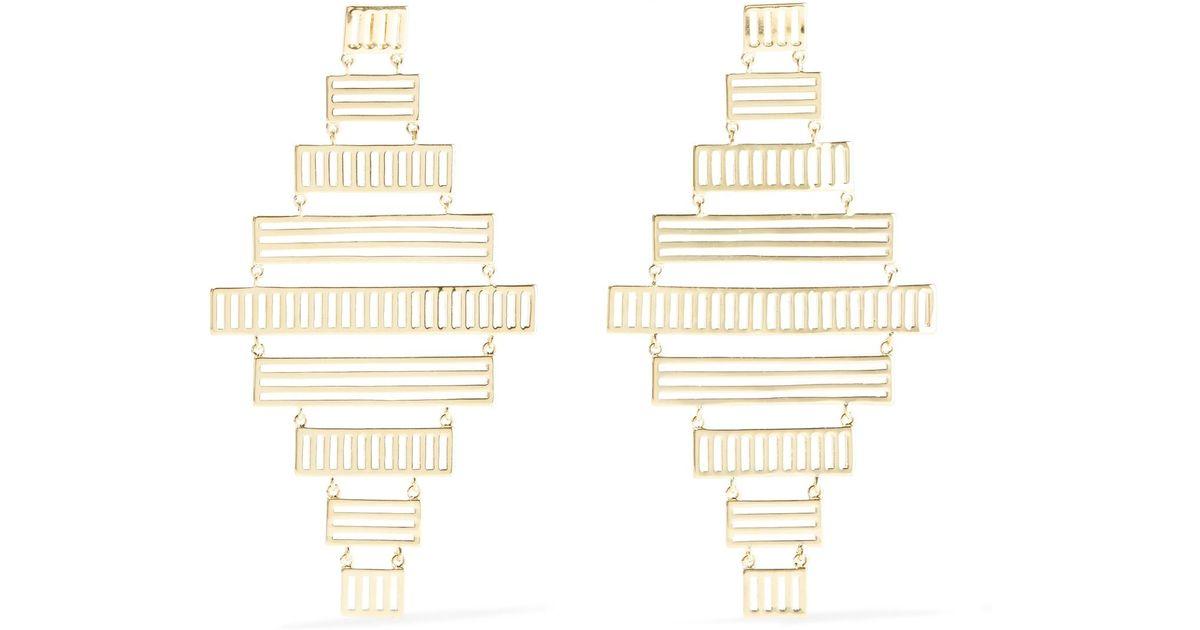 Arme De L'Amour Stripe Chandelier Drop Earrings 07tiCz3Nrj