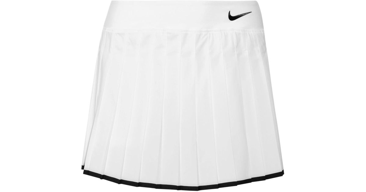 0526608f57 Nike Victory Pleated Dri-fit Stretch Tennis Skirt in White - Lyst