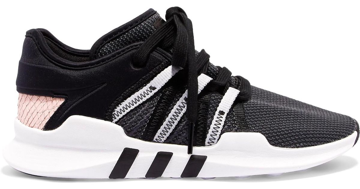 c7ad9890371f26 Adidas Originals Eqt Racing Adv Stretch-knit And Neoprene Sneakers in Black  - Lyst