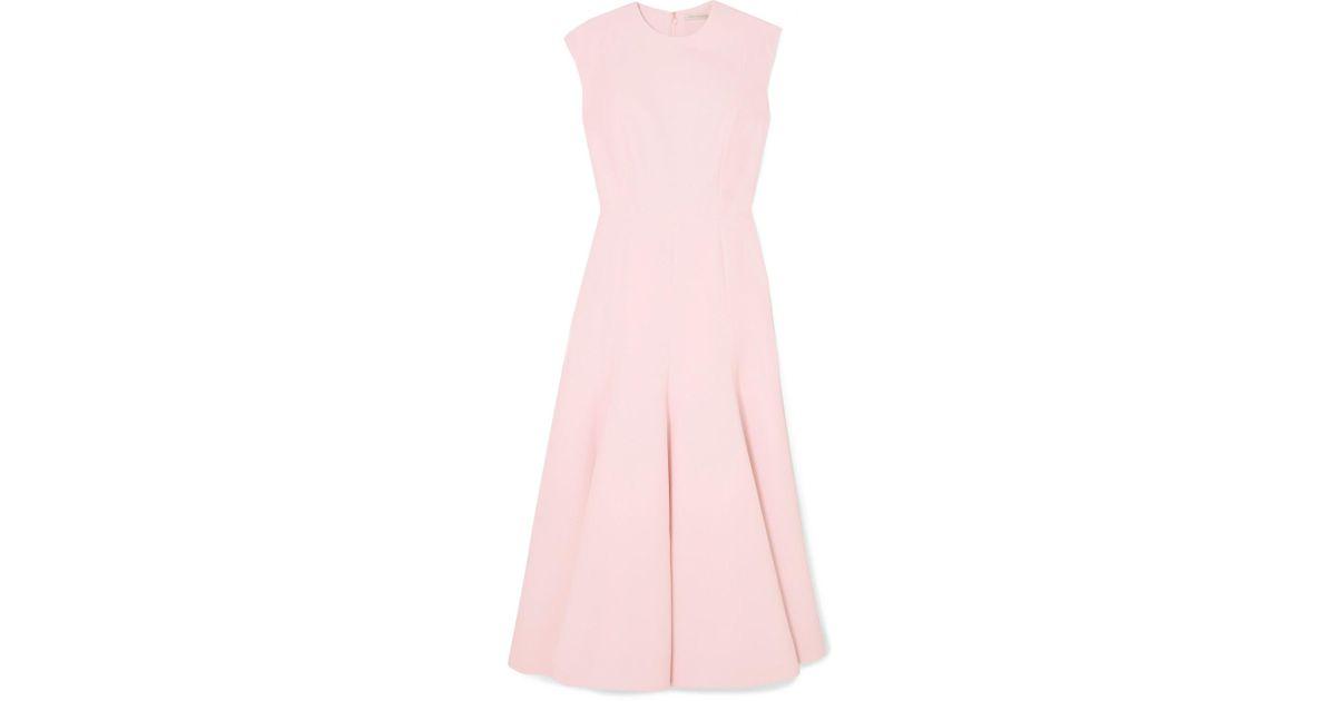 Denver Cloqué Midi Dress - Blush Emilia Wickstead Recommend On Hot Sale LXz5X