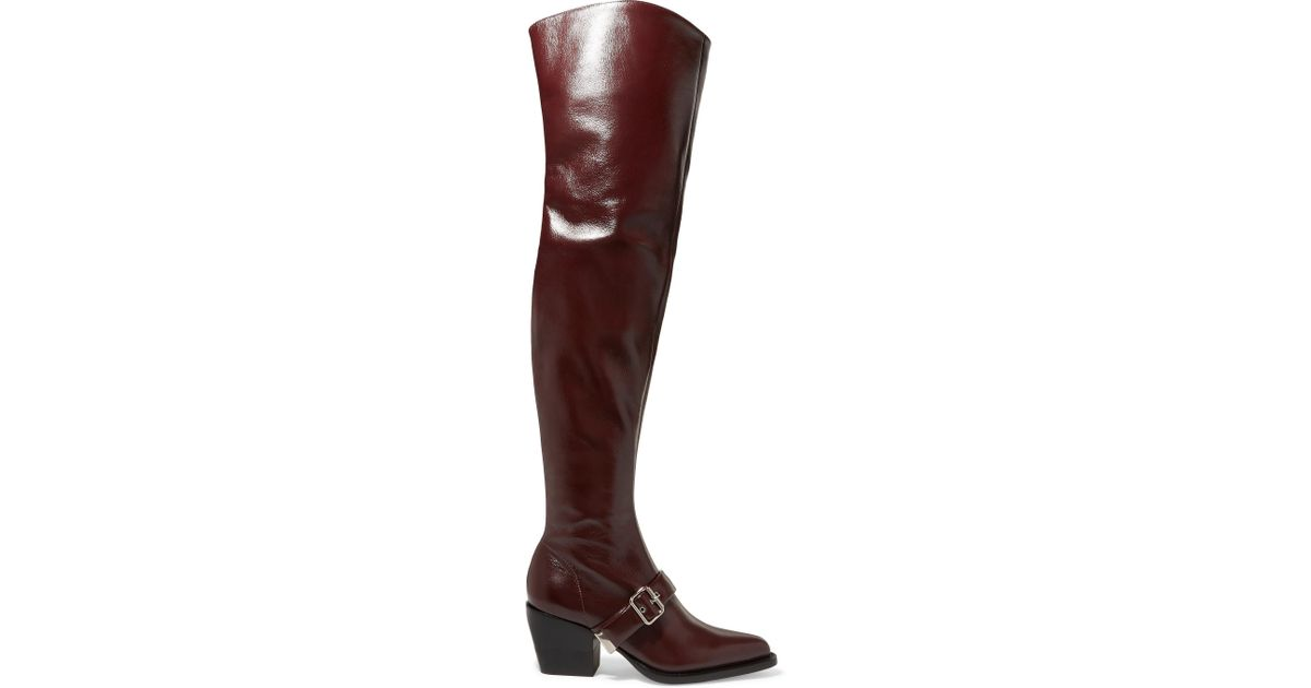 3da3e22f530 Lyst - Chloé Rylee Glossed-leather Over-the-knee Boots