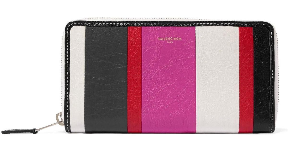 Bazar Printed Textured-leather Wallet - Pink Balenciaga t9goIhT