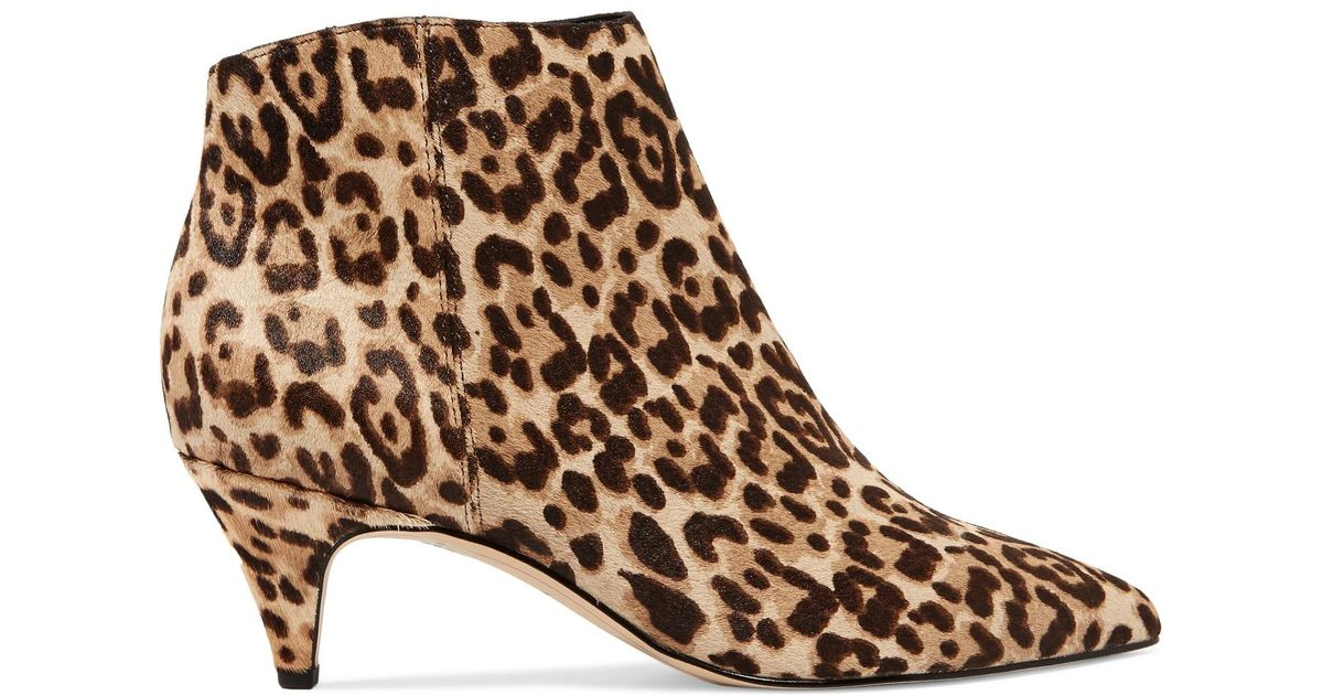 f940920778ac Sam Edelman Kinzey Leopard Booties in Brown - Lyst