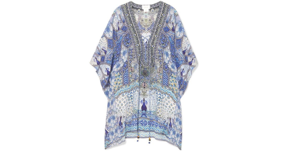 Sale 2018 Wings To Fly Silk Crepe De Chine Kaftan - Blue Camilla Cheap Perfect 2018 Cheap Online Clearance Geniue Stockist Release Dates Cheap Price SPqkD
