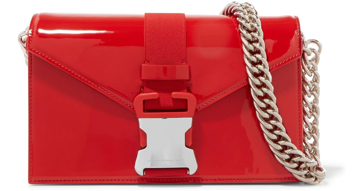Devine Patent-leather Shoulder Bag - Red Christopher Kane pNrsT1aEE