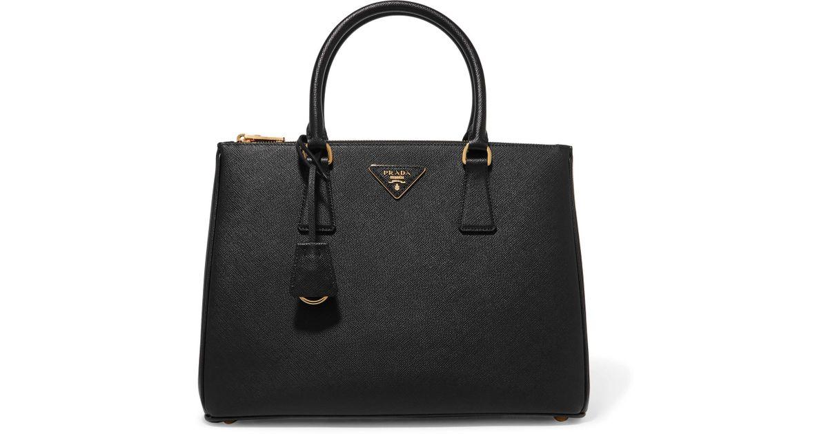 Galleria Large Textured-leather Tote - Black Prada pc466C0