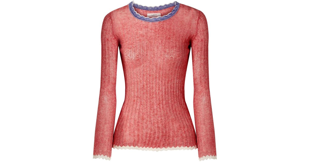 Aggy Ribbed Cotton Sweater - Red Isabel Marant Cheap Sale Pre Order GIzsKmCeTy