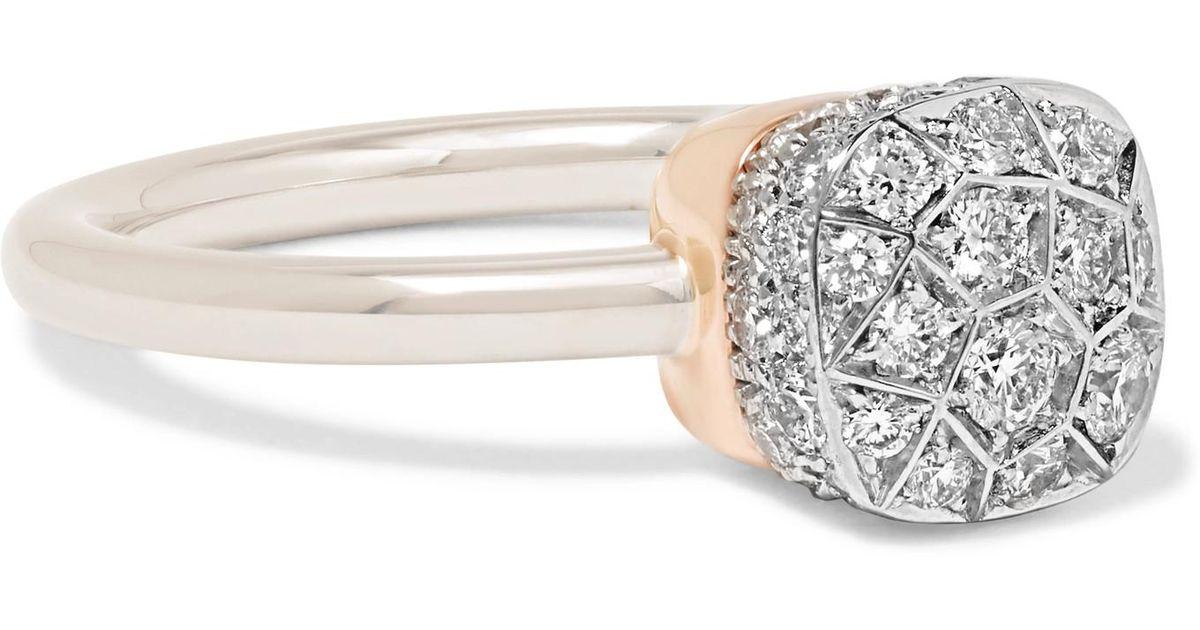 POMELLATO 18-karat Rose Gold Diamond Ring RVU0EtyBR