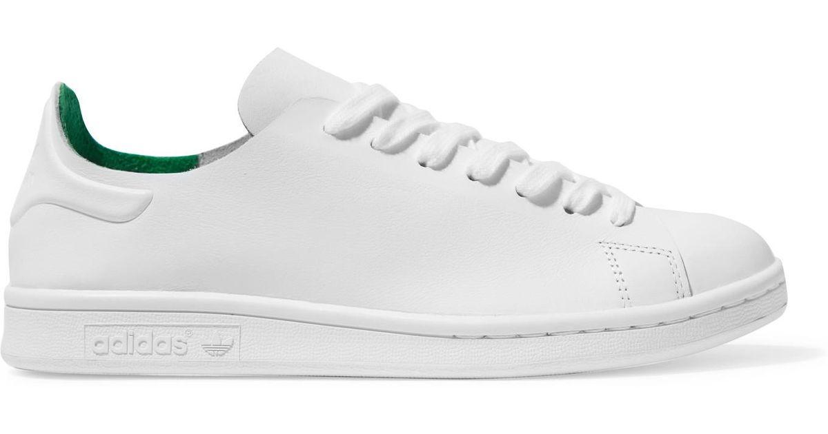 adidas stan smith nuda pelle scarpe originali in bianco lyst
