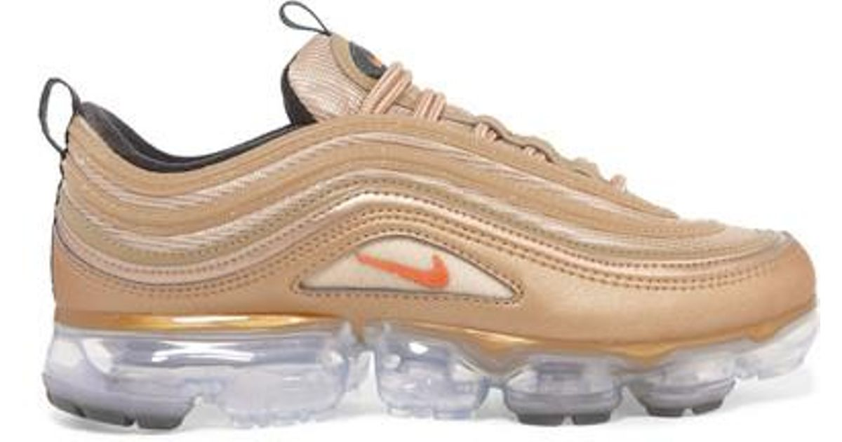 41e1478910904 Nike Air Vapormax 97 Metallic Faux Leather And Mesh Sneakers in Metallic -  Lyst